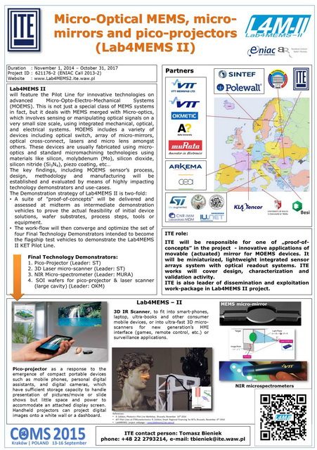 Lab4MEMS II poster for COMS conference 2015