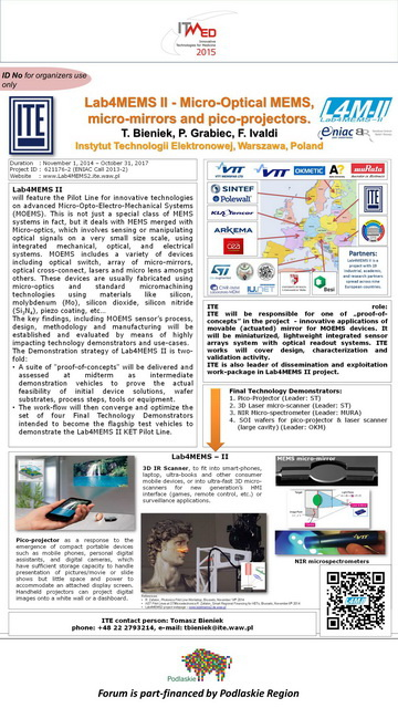 Lab4MEMS II poster for ITMED 2015 conference